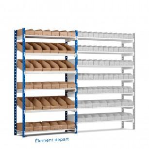Picking charge legère Rang'Eco Stockage mixte à tablettes inclinées - Élément départ
